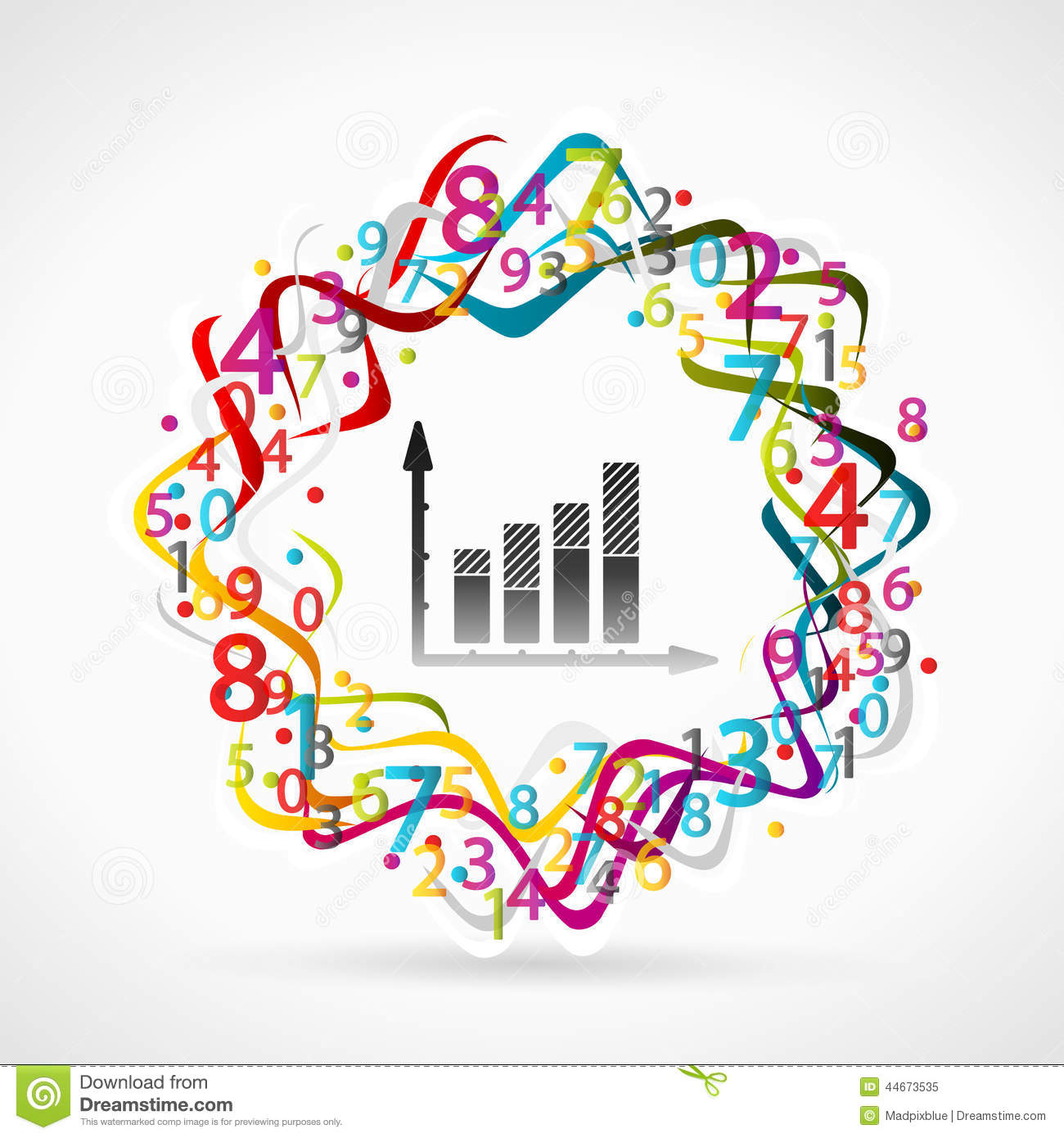 Statistics Stock Vector Illustration Of Colorful Accounting