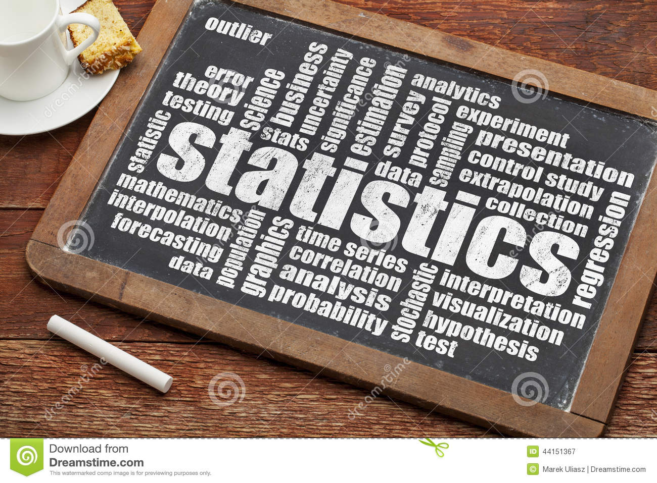 Statistics Word Cloud Stock Image Image Of Extrapolation