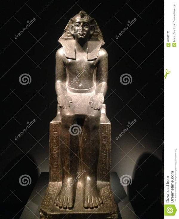 Statue Of Khaneferre Sobekhotep Iv Seated Metropolitan Museum Art. Editorial Stock