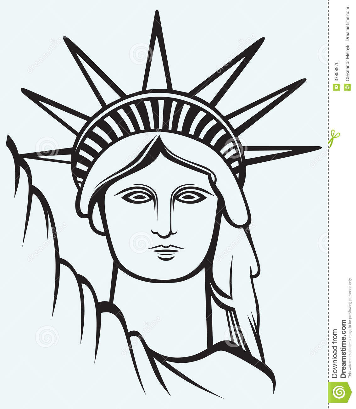 Statue Of Liberty Stock Vector Illustration Of Black