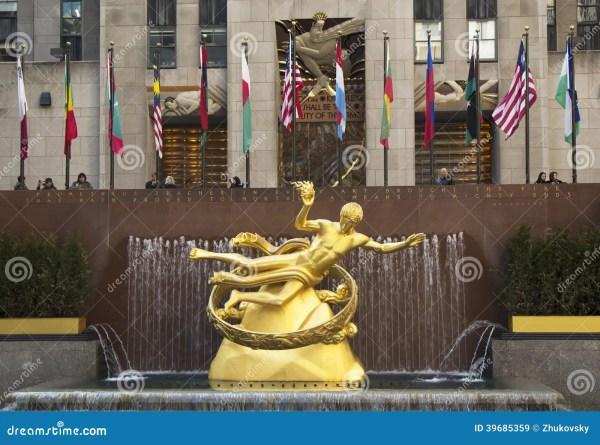 Statue Of Prometheus Lower Plaza Rockefeller