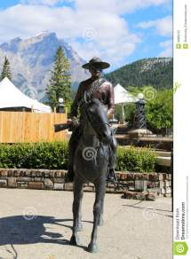 Statue Of Royal Canadian Mounted Police Riding Horse