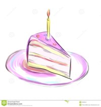 Stck einer Torte stock abbildung. Illustration von ...