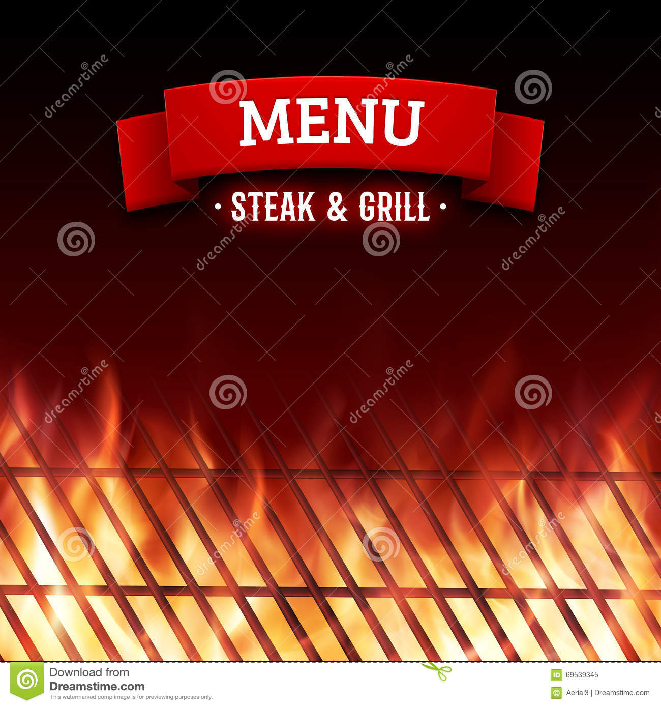 Steak And Grill House Menu Vector Background Stock Vector