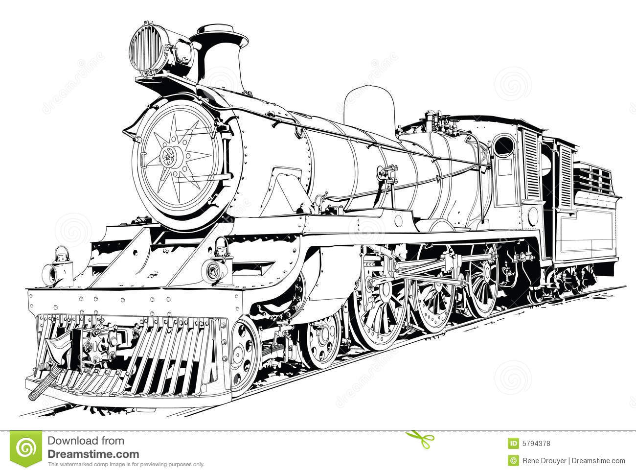 Steam Engine Powered Train Royalty Free Stock Photos