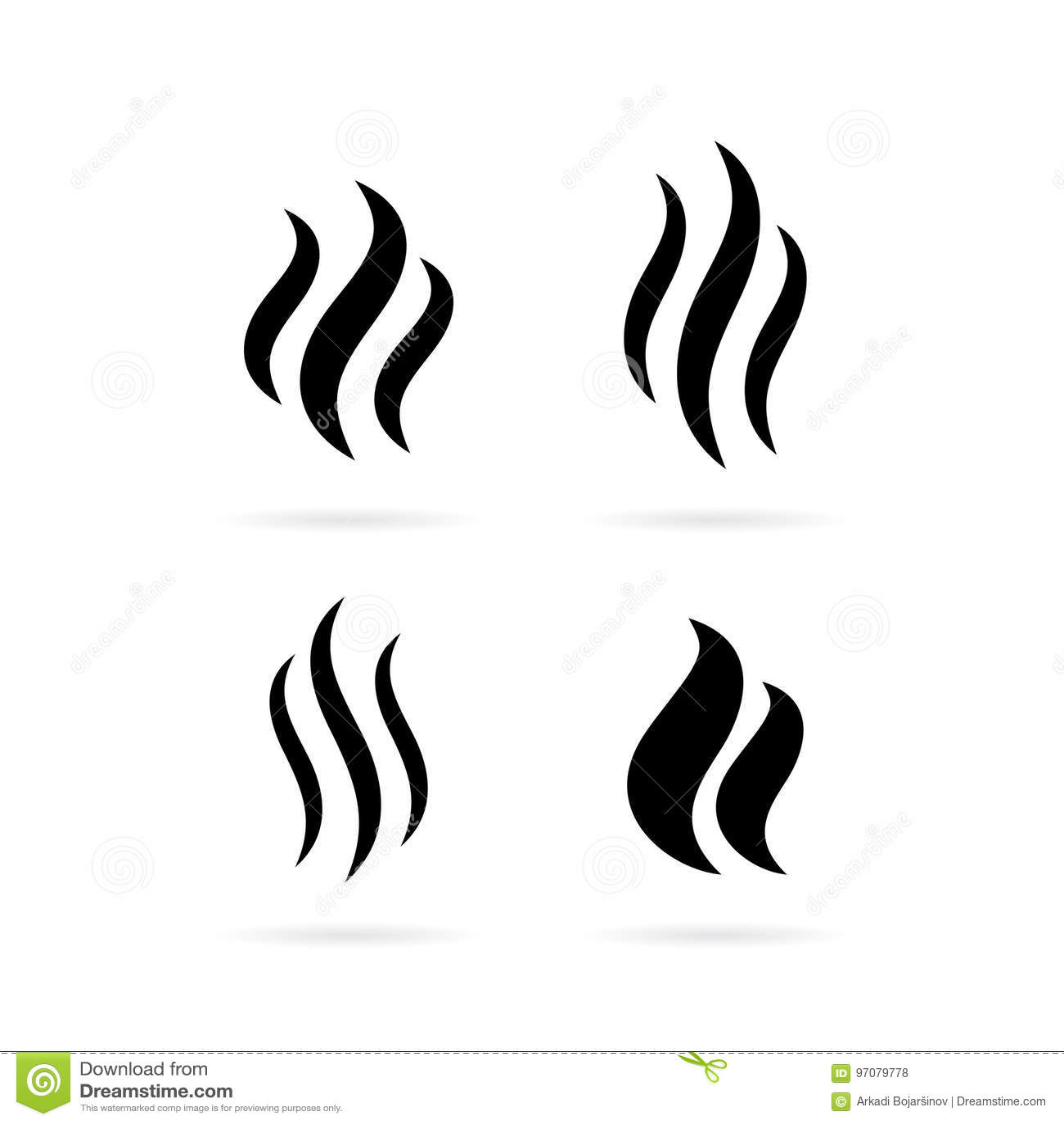 Steam Smoke Vector Icon Stock Vector Illustration Of