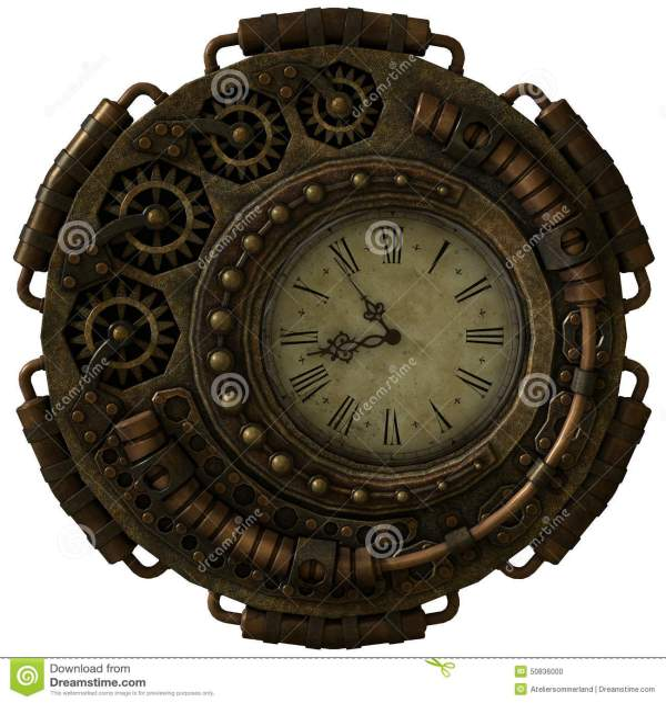 Steampunk Clock 3d Cg Stock Illustration. Illustration Of