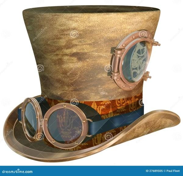 Steampunk Hat And Goggles Stock Illustration. Illustration