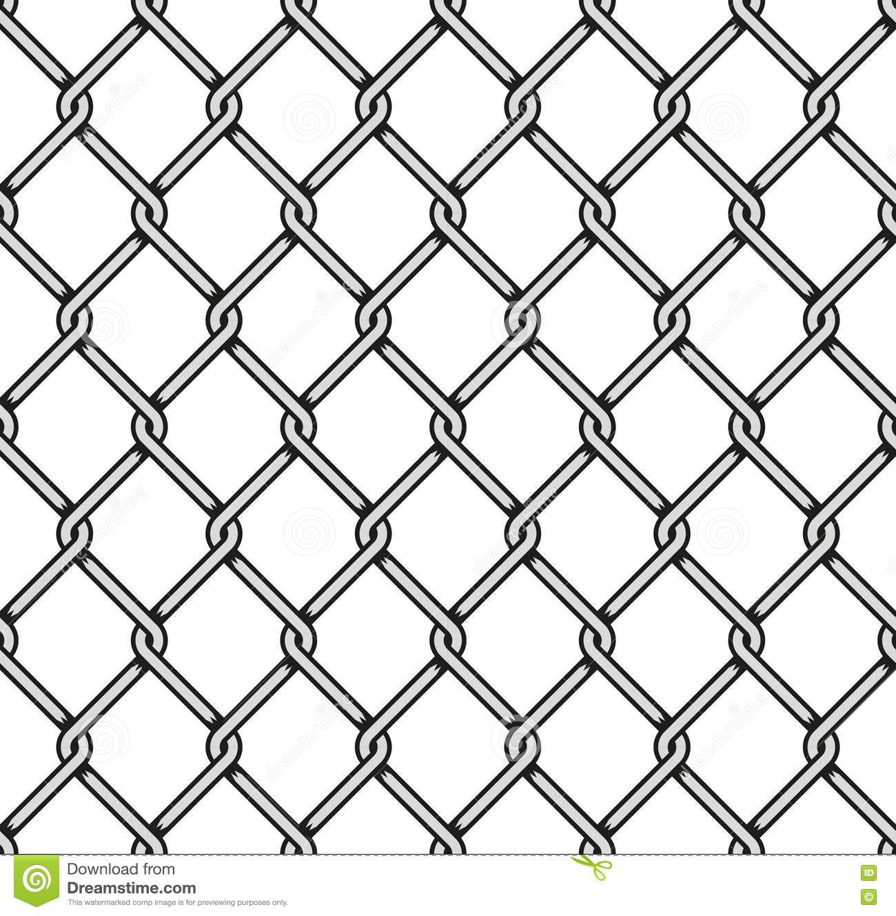 Steel Wire Mesh Seamless Background. Vector Stock Vector