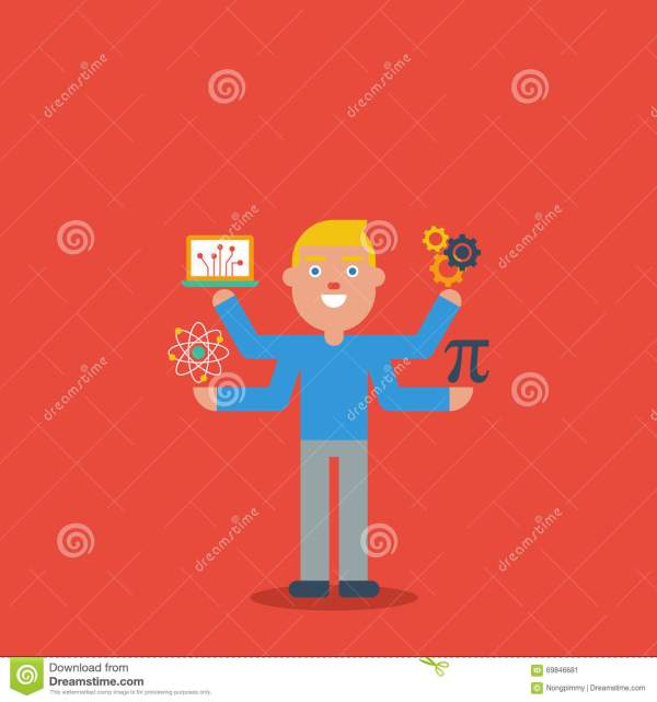 Stem Education Character Concept Stock Vector