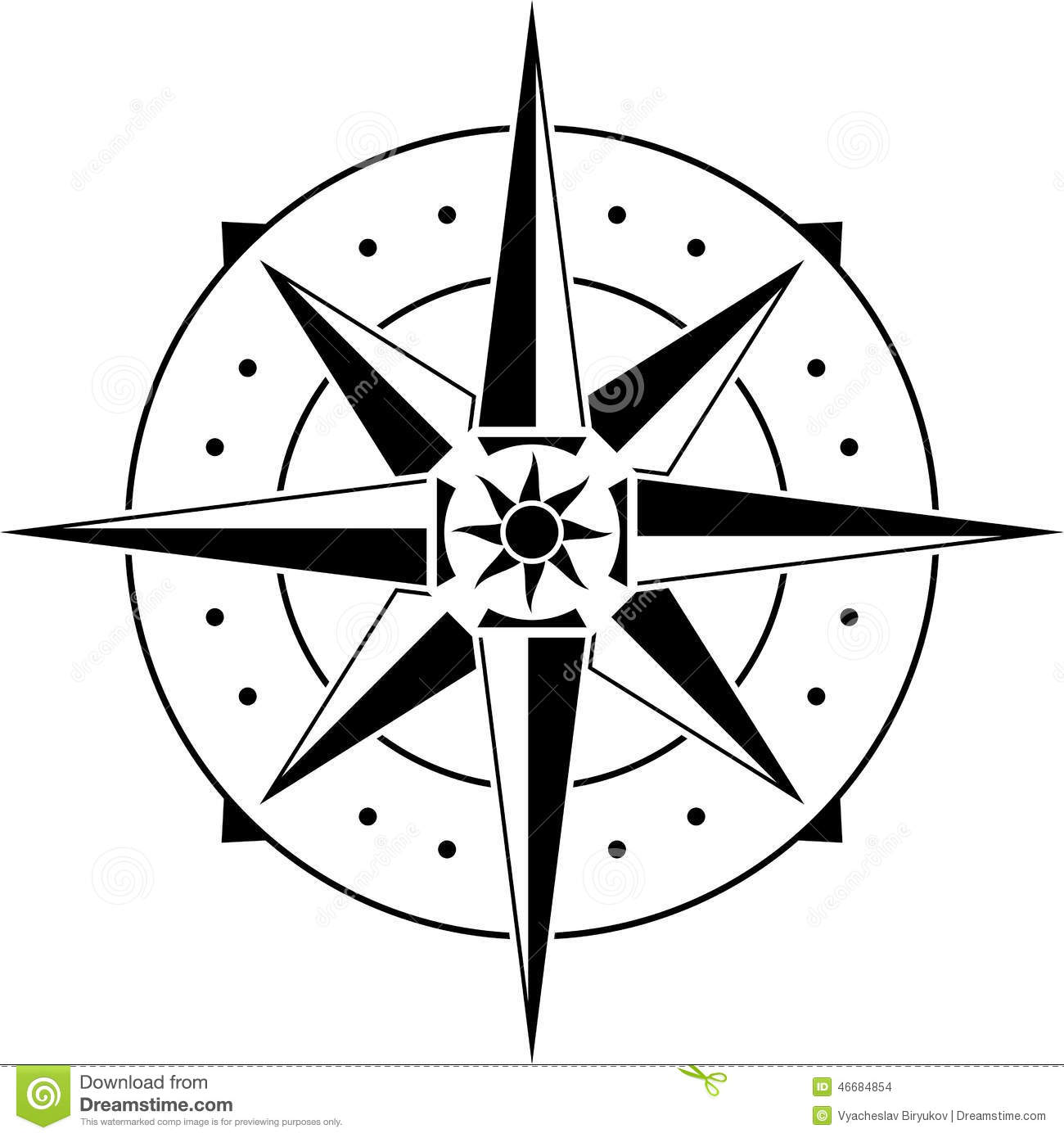 Stencil Of Compass Stock Photo Image Of Symbol East