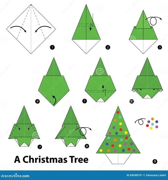 Origami Christmas Tree Instructions Christmaswalls