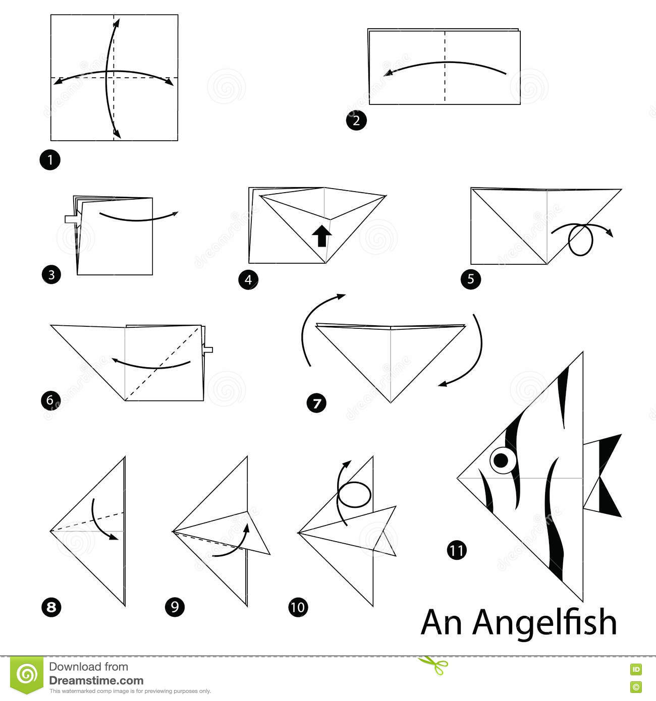 Easy Origami Instructions Fish