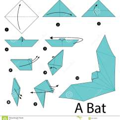 3d Origami Diagram Animals Uml Of Library Management System Step By Instructions How To Make A Bat Stock