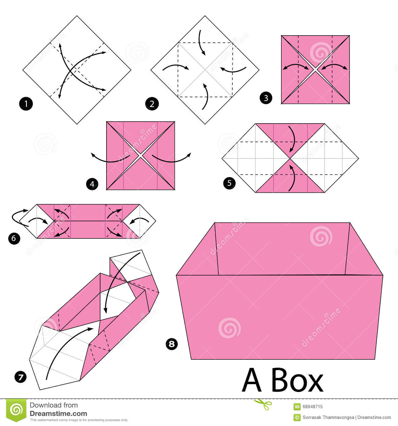hight resolution of step by step instructions how to make origami a box