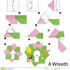 Christmas Origami Diagram Harbor Breeze Fan Capacitor Wiring Step By Instructions How To Make Wreath