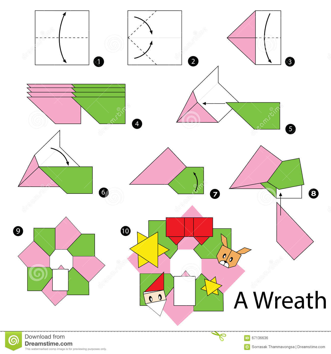 christmas origami diagram basic car stereo wiring step by instructions how to make