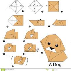 3d Origami Diagram Animals 1998 Ford Escort Zx2 Timing Belt Step By Instructions How To Make Dog Stock