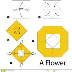 Origami Flower Instruction Diagram Conventional Fire Alarm Control Panel Wiring Step By Instructions How To Make A Stock Vector