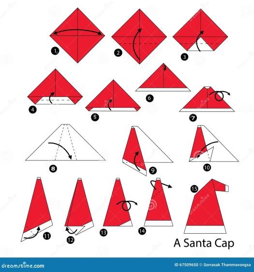 how to make a origami santa tutorial origami handmade