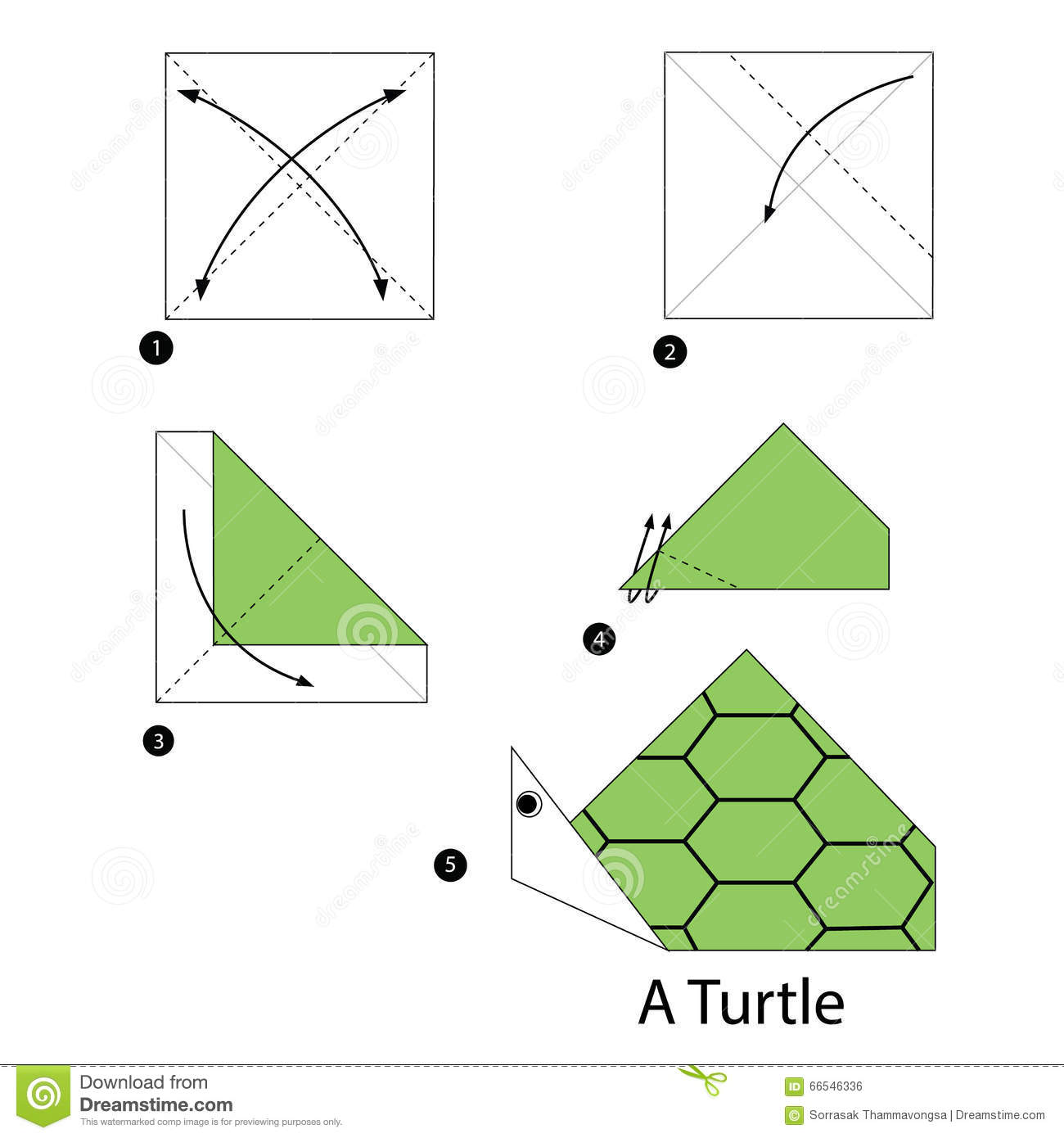 paper origami turtle diagram dodge dart radio wiring step by instructions how to make