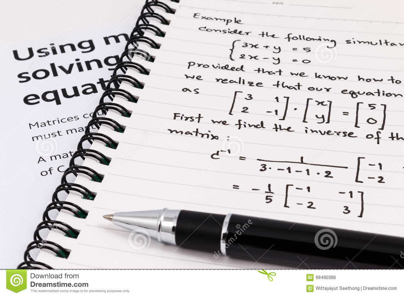 Step To Using Matrices When Solving System Of Equations