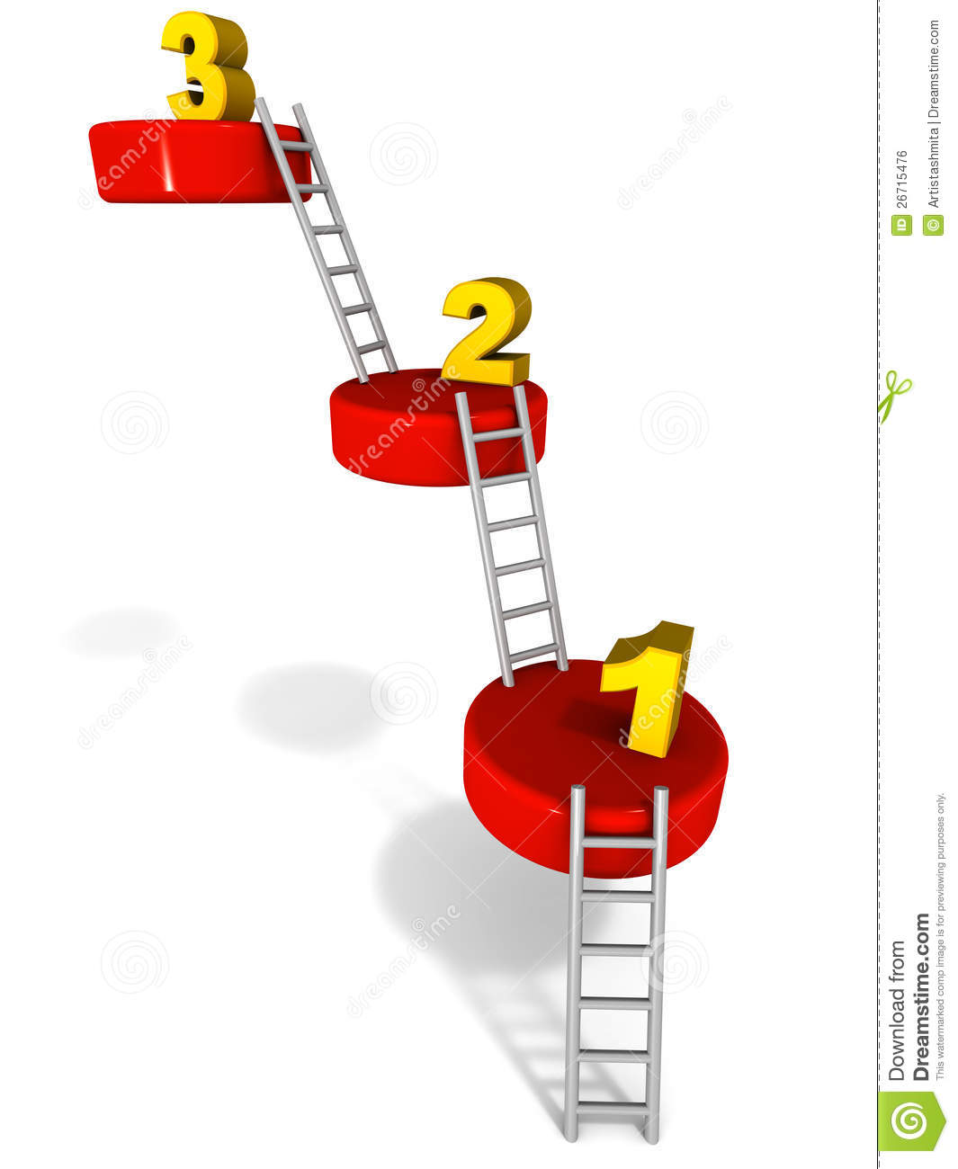 Steps One Two Three Royalty Free Stock Image