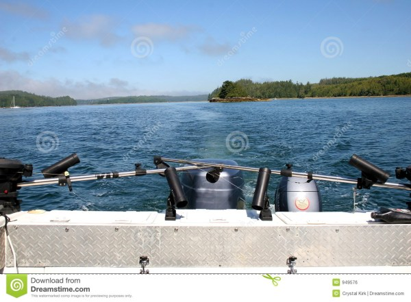 Stern Of Boat In Sea Royalty Free Stock - 949576
