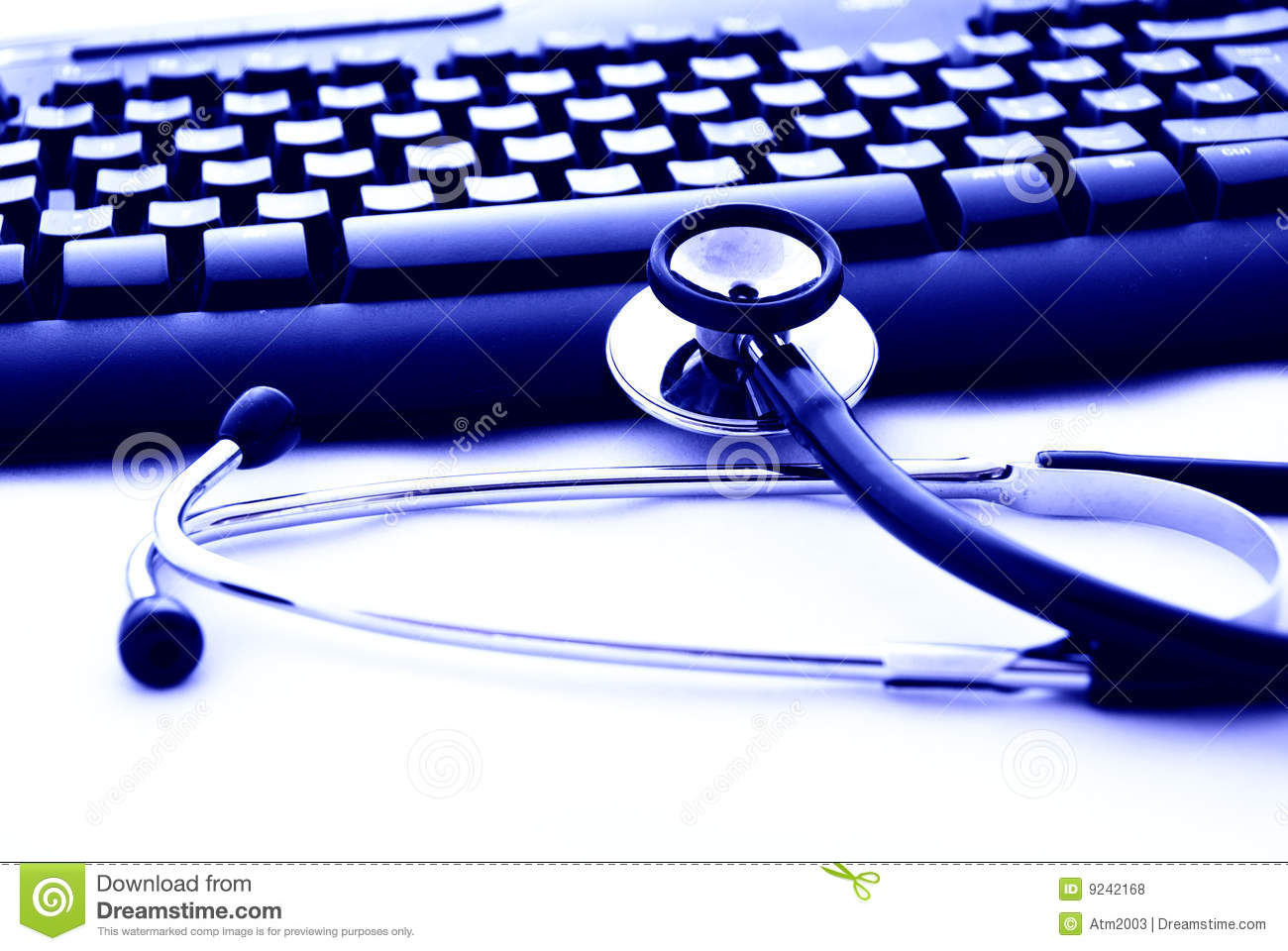A Stethoscope And Computer Keyboard Royalty Free Stock Photos  Image 9242168