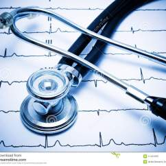 Heart Sounds Diagram Wiring For Led Dimmer Switch Stethoscope And Ecg Chart Stock Image. Image Of Heals - 11431203