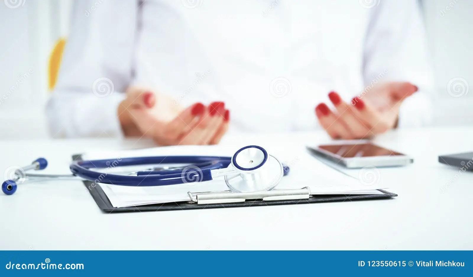 Stethoscope Medical Prescription Form Are Lying Against