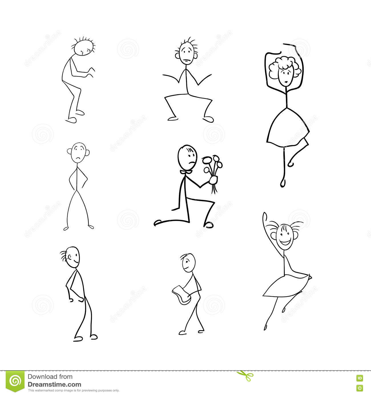 Stick Figure Girl With Body