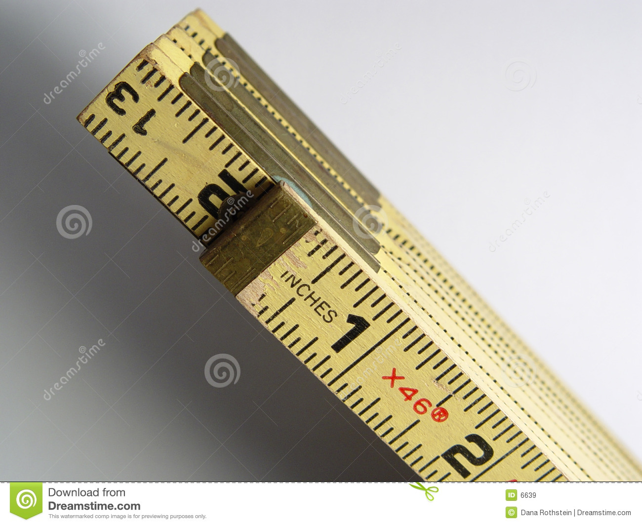 Stick Ruler Stock Image Image Of Measurement Inch Tool