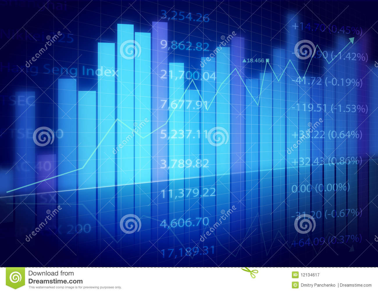 Businessman Quotes Wallpaper Stock Market Charts Royalty Free Stock Photography Image