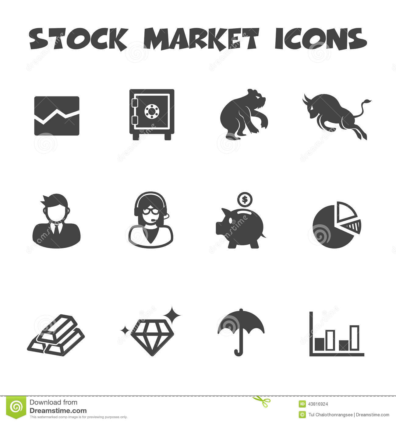Stock market icons stock vector. Illustration of