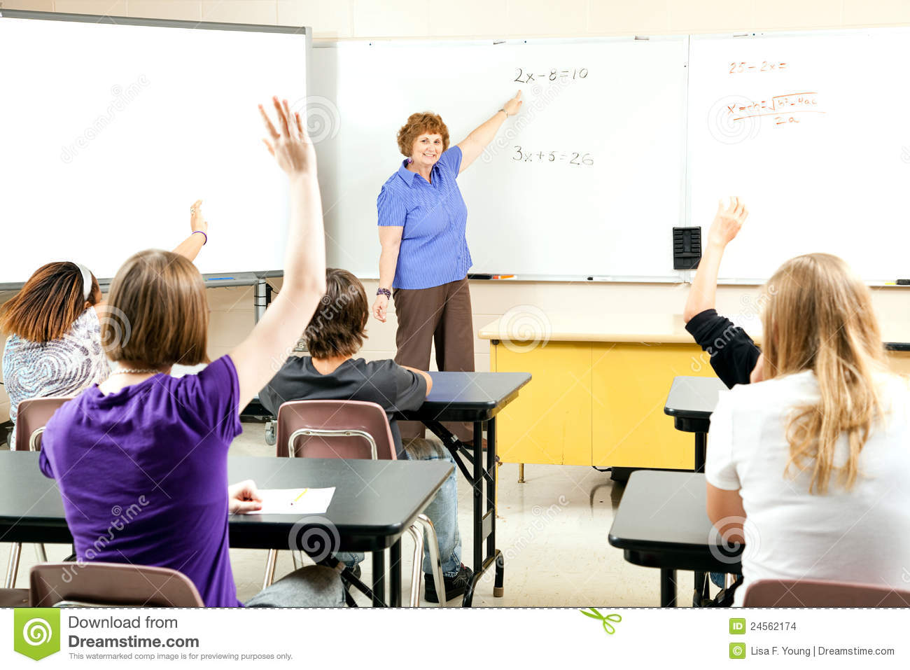 teacher table and chair chairs at marshalls home goods stock photo of teaching algebra class - image: 24562174