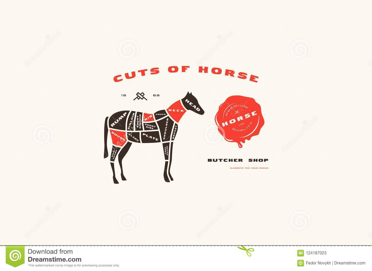 hight resolution of stock vector horse cuts diagram in flat style stock vector diagram of horse colors