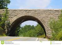 Stone Arch Bridge In Acadia National Park , Maine Royalty ...