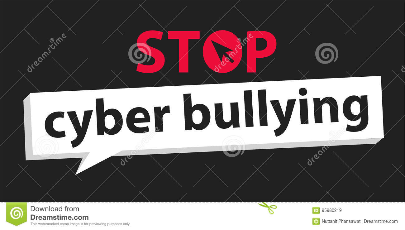 hight resolution of stop cyber bullying background