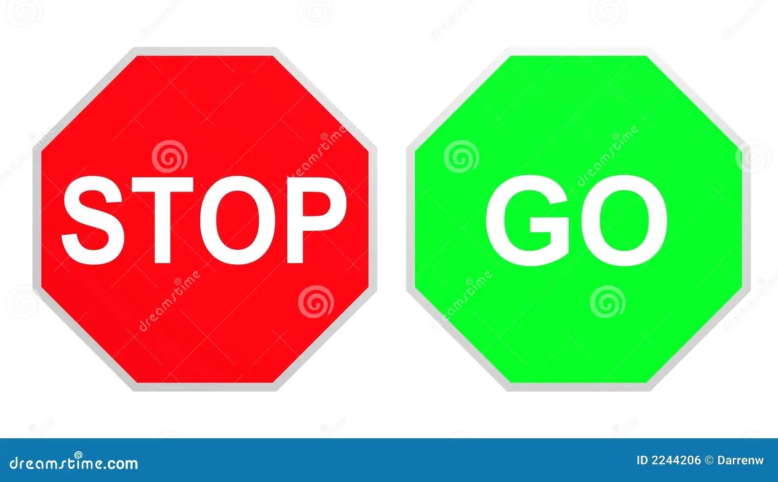 Stop Go Stock Illustration Illustration Of Drive