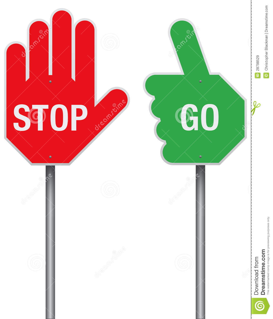 Stop And Go Signs Royalty Free Stock Images