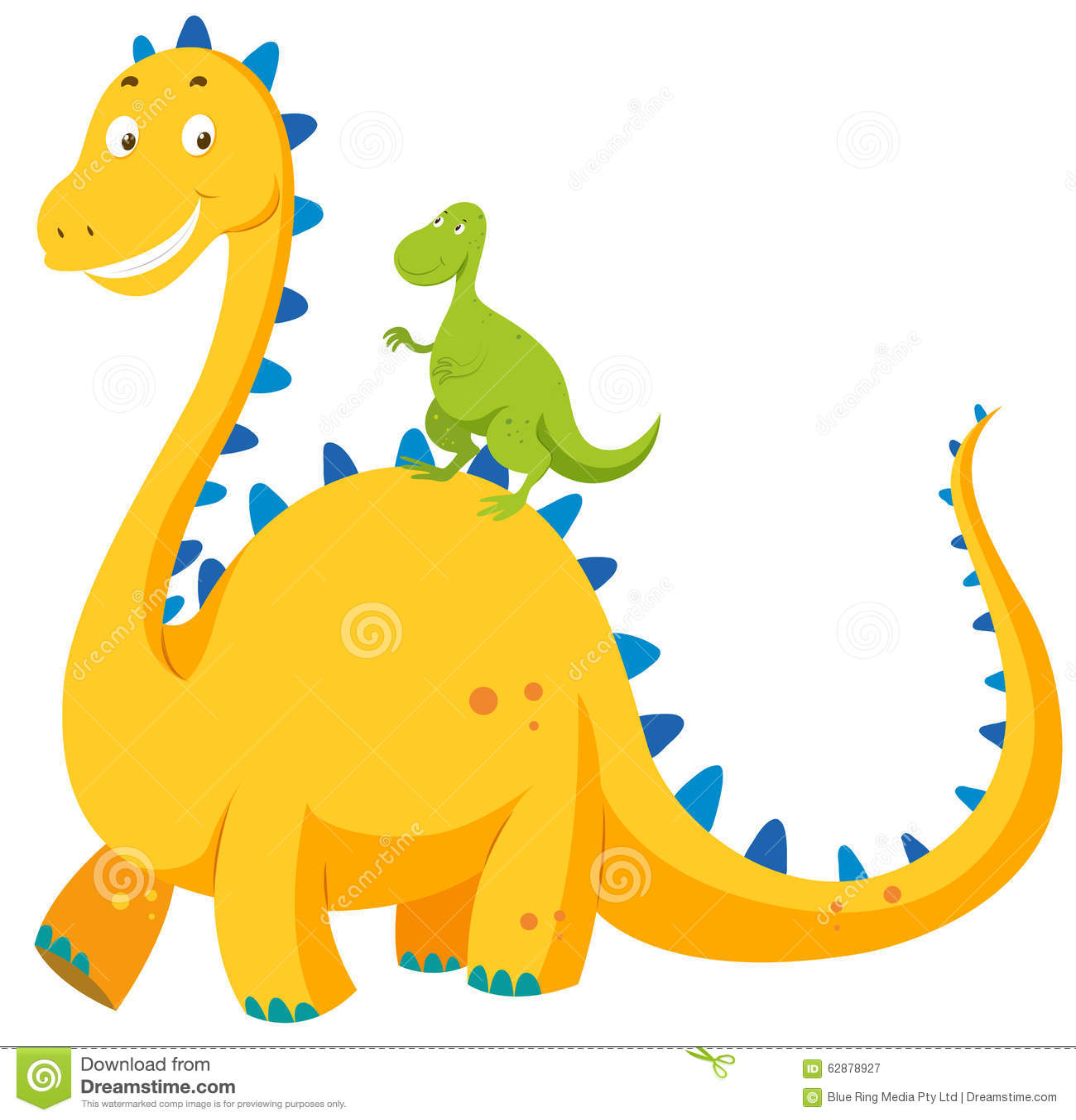 Stor Dinosaurie Och Liten Dinosaurie Vektor Illustrationer