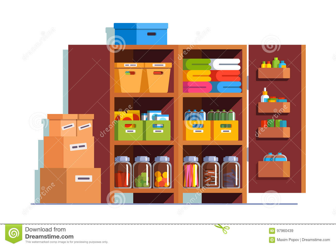 Pantry Cartoons Illustrations  Vector Stock Images