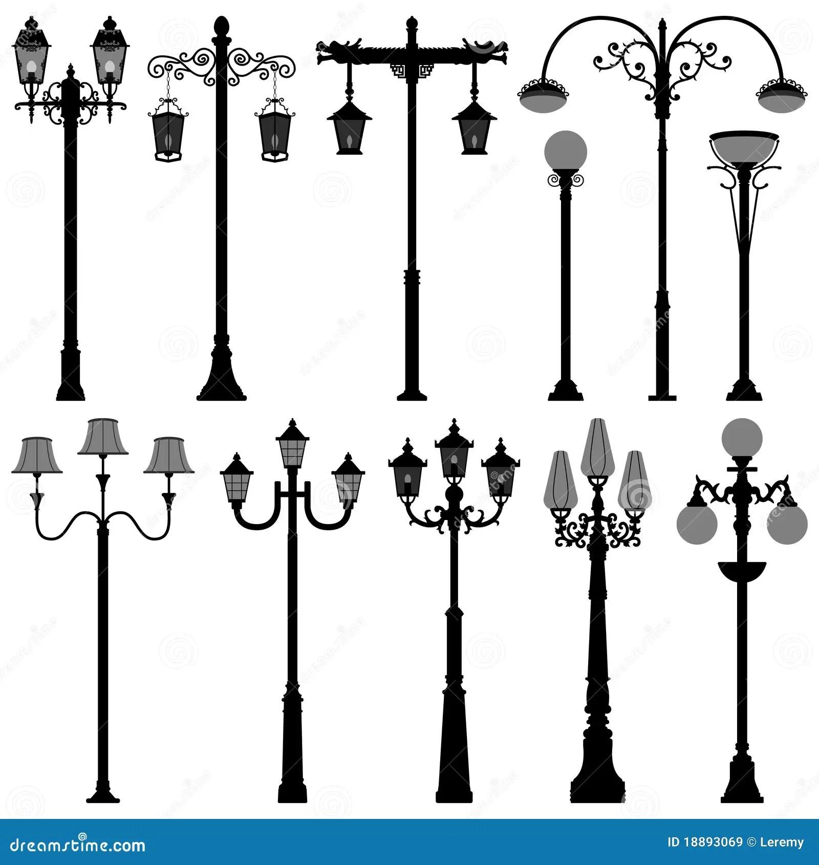 Straat Polelight Van De Lantaarnpaal Van De Lamp De Post