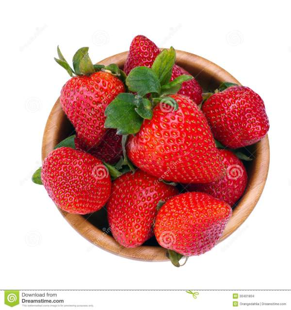 Strawberry From Above Stock Images Image 30401804