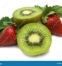 strawberry and kiwi [ 1300 x 957 Pixel ]