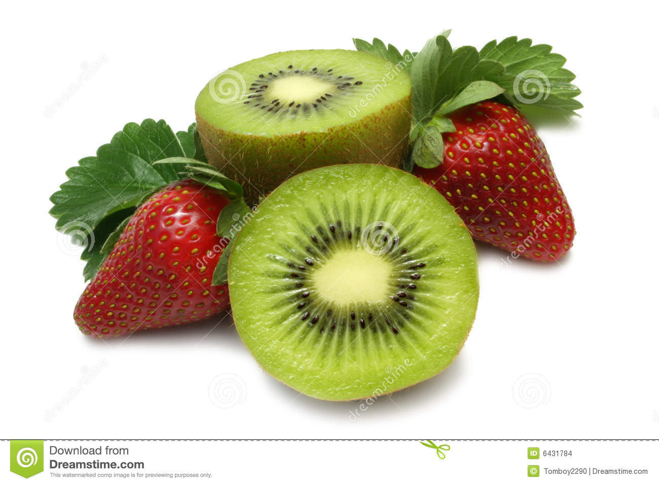 hight resolution of strawberry and kiwi