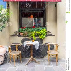 2 X 4 Dining Chairs Overstock Com Street Cafe In Krakow Stock Photo. Image Of Footpath - 36186398