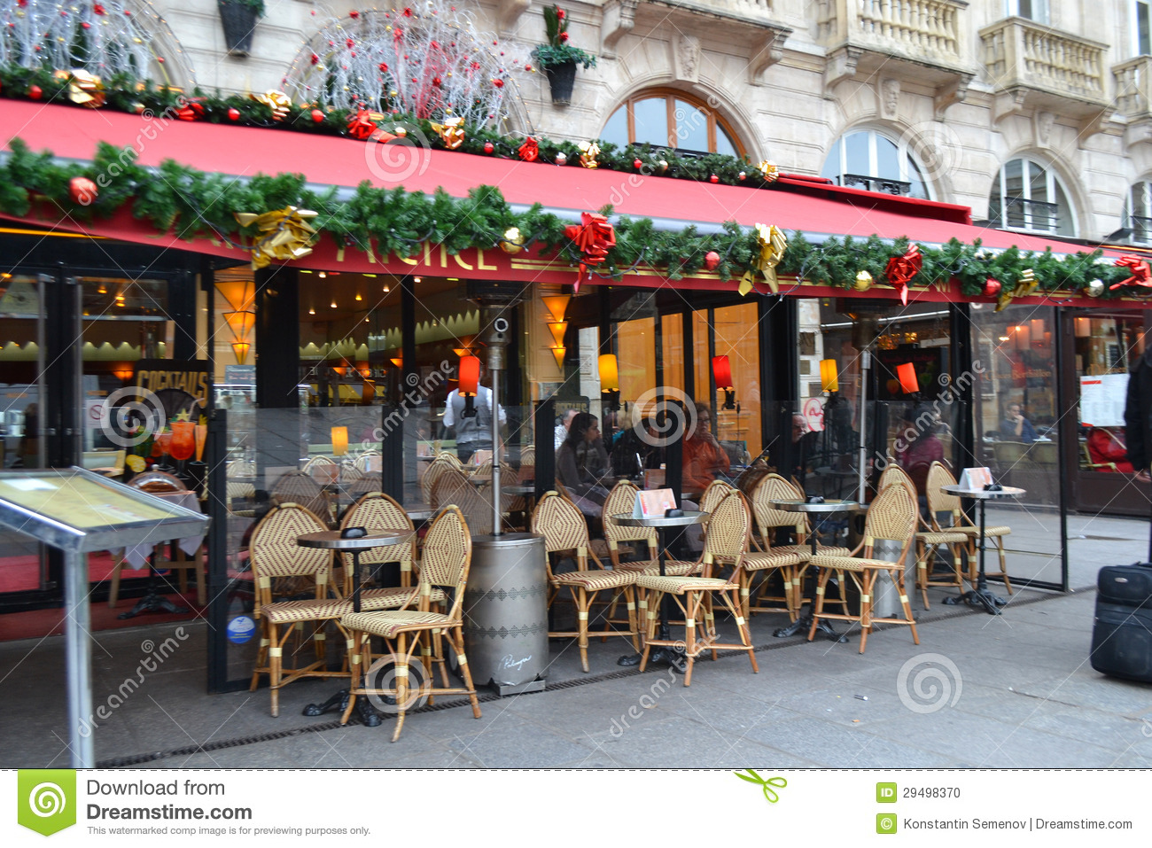 Street cafe in Paris editorial image Image of food table