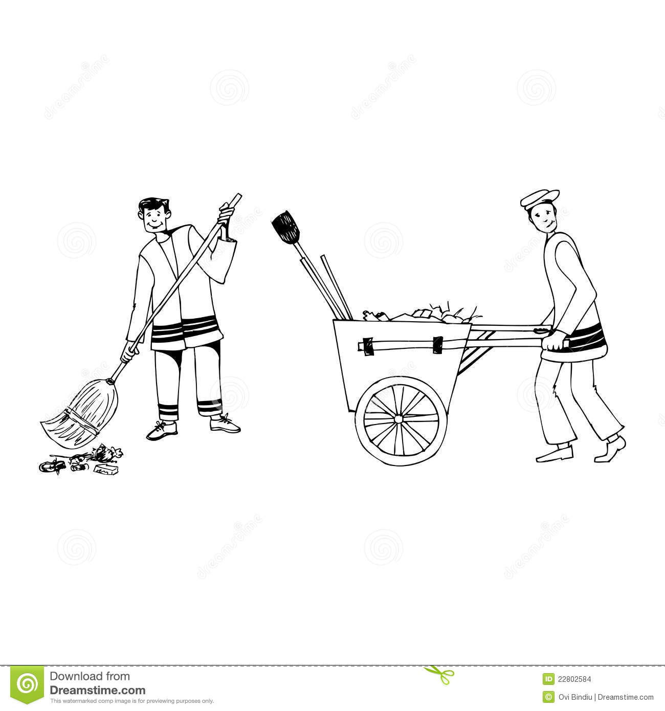 Street Cleaners Stock Images